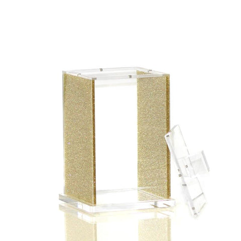 Medium Gold Glitter Lucite Canister