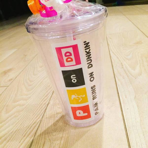 Dunkin Donuts Lucite Tumbler