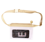 Clear Fanny Pack with Gold Accents