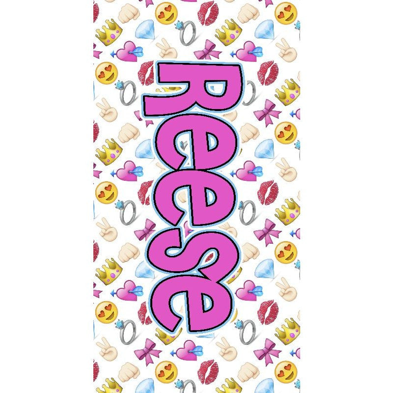 Girly Emoji Towel