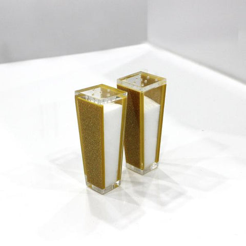Gold Shimmer Salt Shaker Set