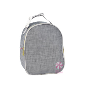 Gray Chambray Lunch Box