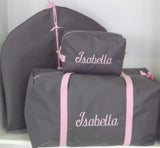Girls Gray and Light Pink Duffle