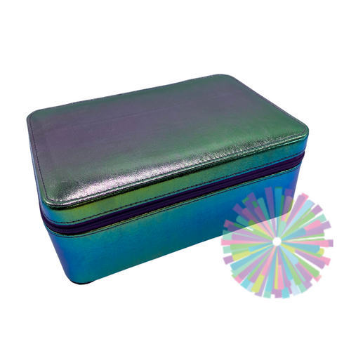 Bari Lynn Purple Rainbows Jewelry Case