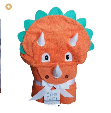 Triceratops Hooded Toddler Towel