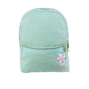 Mint Chambray Backpack