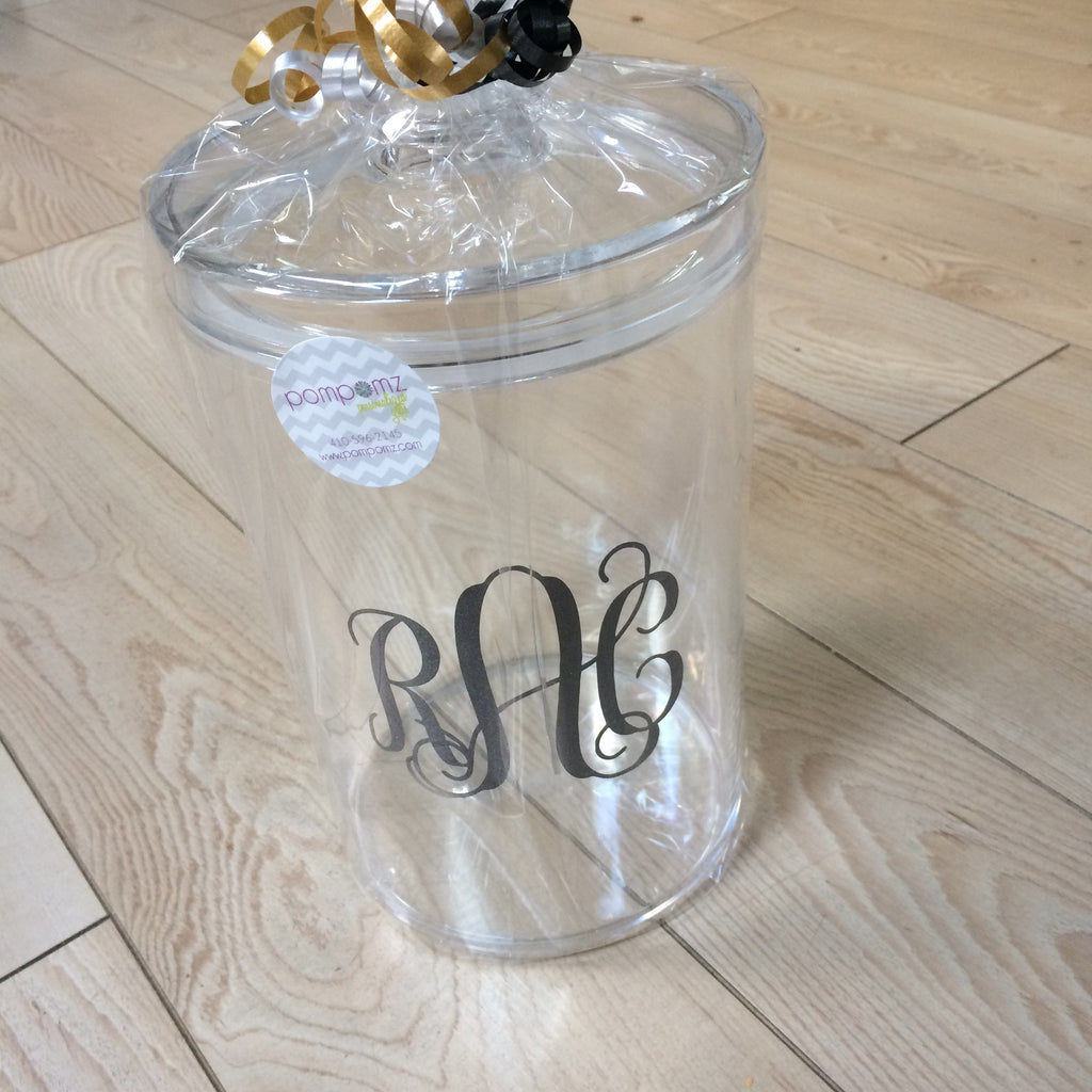 Lucite Large Round Cookie Jar