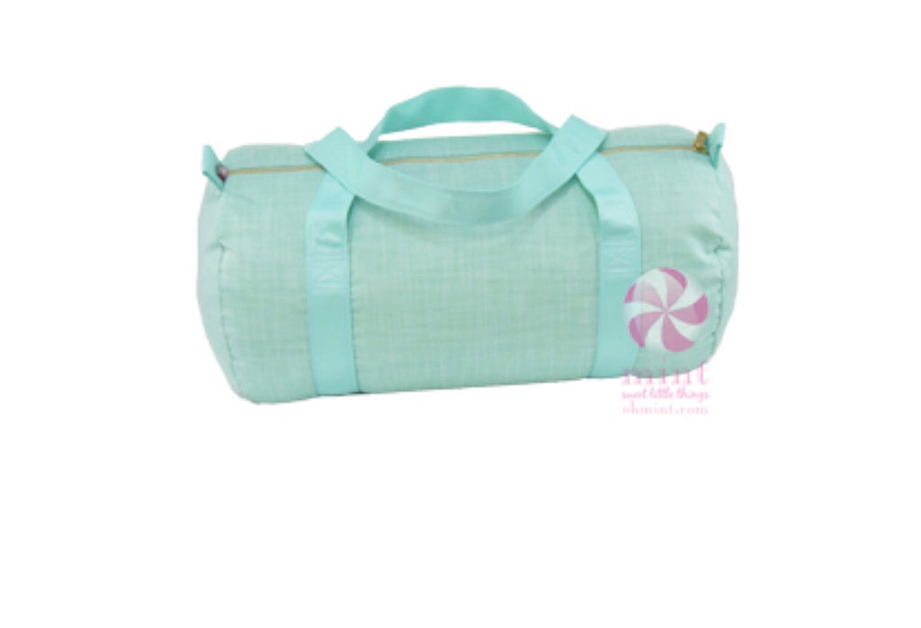 Mint Chambray Duffle