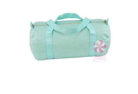 Mint Chambray Medium Duffle