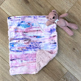 Brushstroke Pinks Lovie With Teddy Bear
