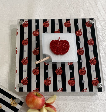 Black and Red Apple and Honey Tray
