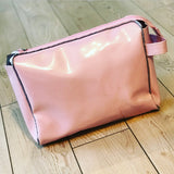 Pink and Gray Toiletry Pouch