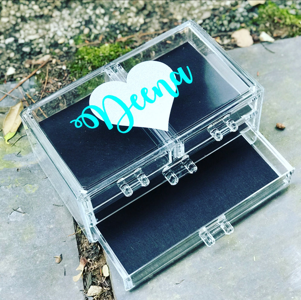4 Drawer Lucite Jewelry Box