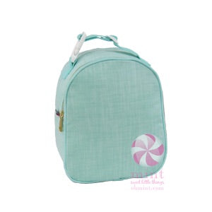 Mint Chambray Lunch Box