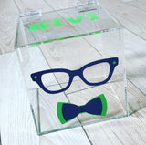 Glasses/Bow Tie Lucite Box
