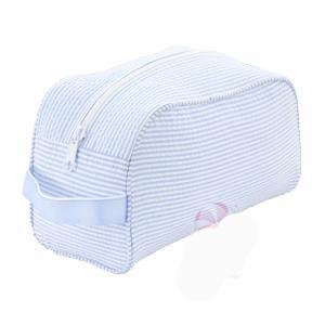 Light Blue Seersucker Toiletry Bag