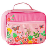 Pink Butterfly Floral Lunch Box