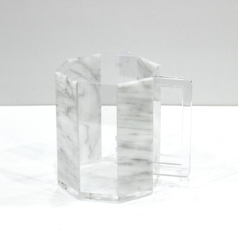 White Marble Washing Cup