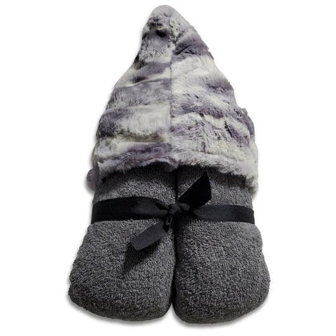 Marble Gray Hooded Toddler Towel