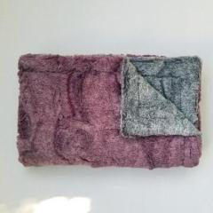 Mauve and Gray Minky Blanket