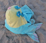 Toddler Mermaid Hooded Towel