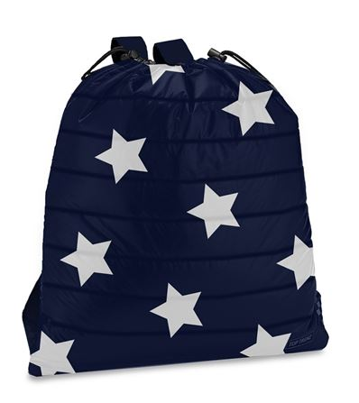Navy Star Draw Sting Puffer Bag.