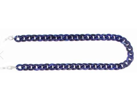 ikippah Marbled Navy Adult Mask Chain