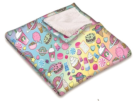 Planet Sweets Throw Blanket