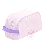 Pink & Purple Seersucker Toiletry Bag