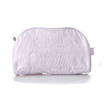 Purple Seersucker Toiletry Bag