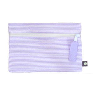 Purple Seersucker Pouch