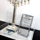 Silver Shimmer Lucite Tray