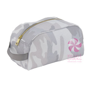 Gray Camo Toiletry Bag