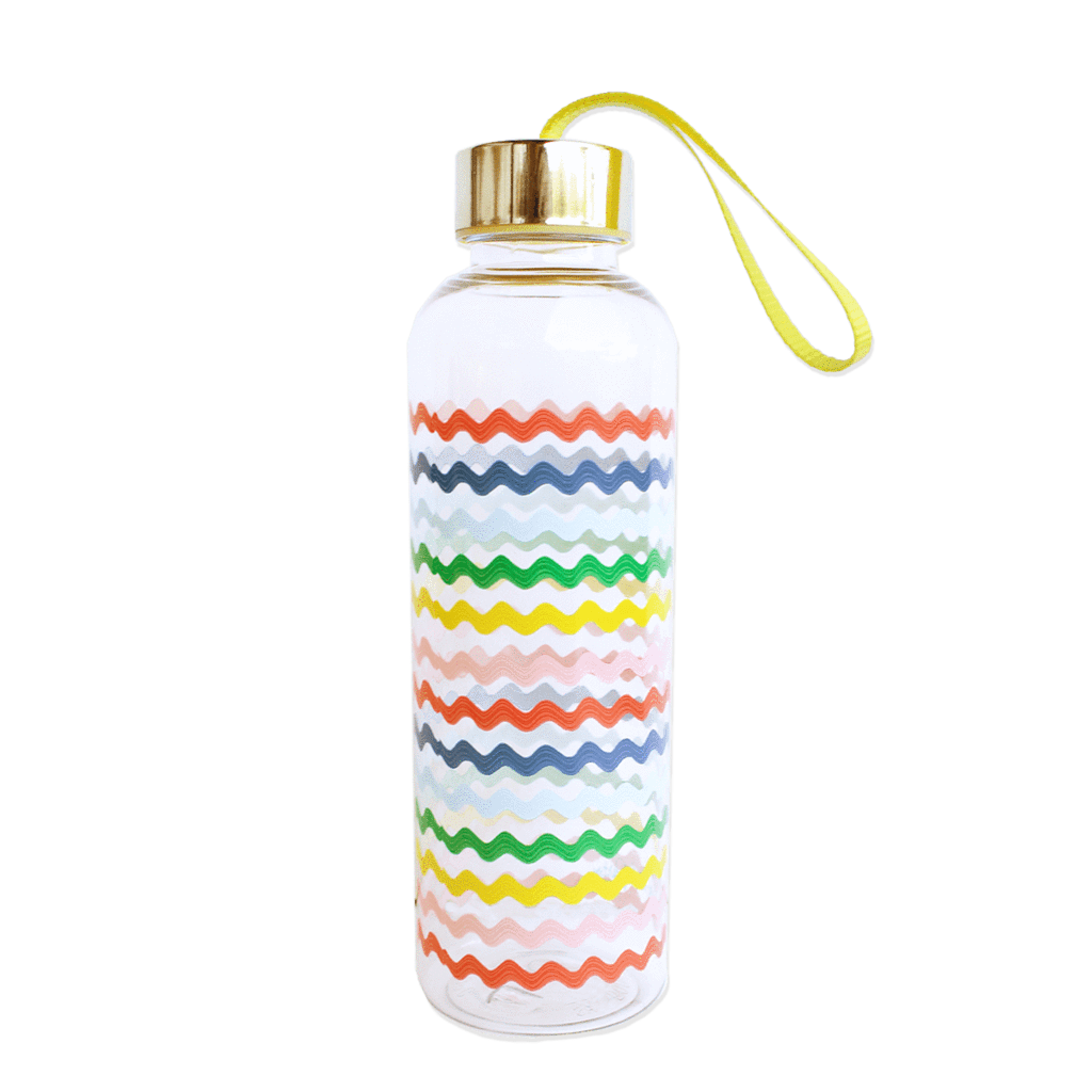 Waves Striped Water Bottle