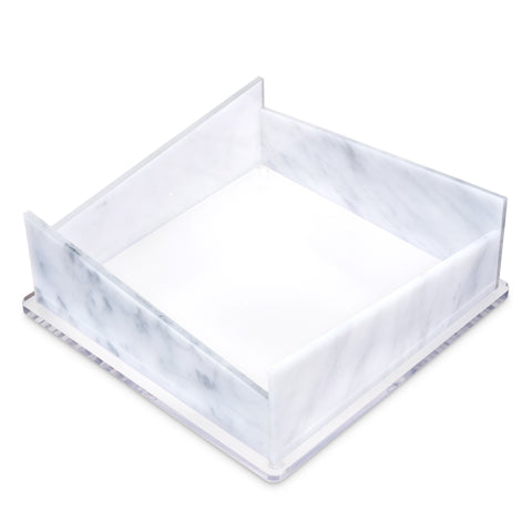 White Marble Napkin Holder