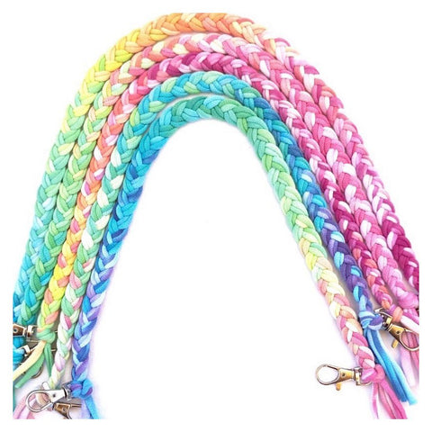 Rainbow Tie Dye Braided Mask Strap
