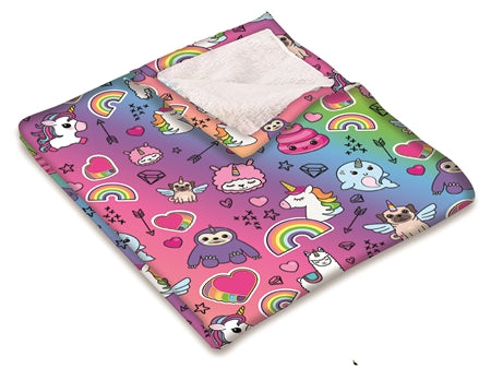 Unicorn Fuzzy Throw Blanket