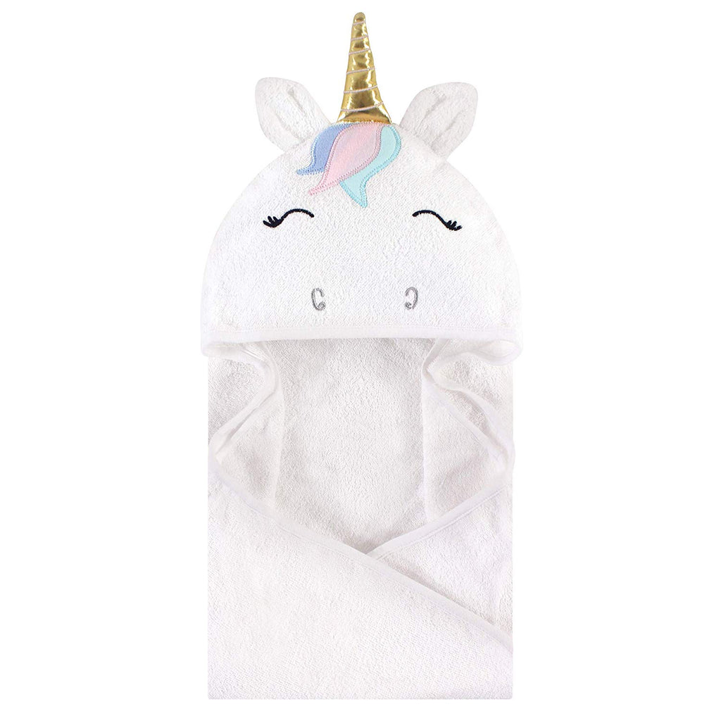 Infant White Unicorn Towel