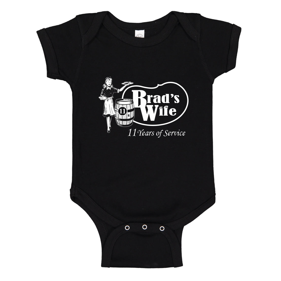 Baby Onesie Brad's Wife 100% Cotton Infant Bodysuit