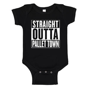 Baby Onesie Straight Outta Pallet Town 100% Cotton Infant Bodysuit