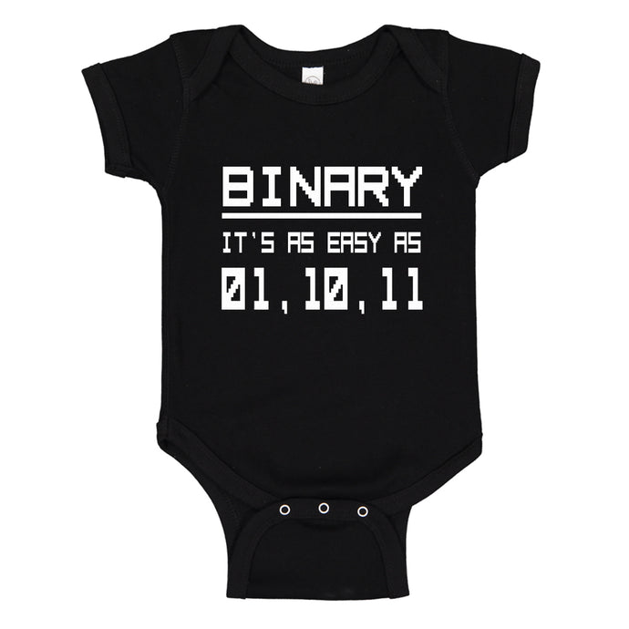 Baby Onesie Binary 100% Cotton Infant Bodysuit