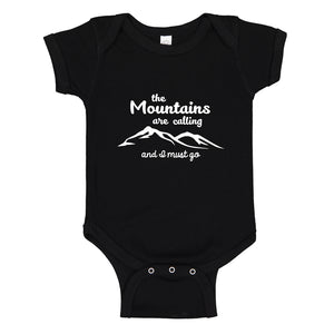 Baby Onesie The Mountains are Calling 100% Cotton Infant Bodysuit