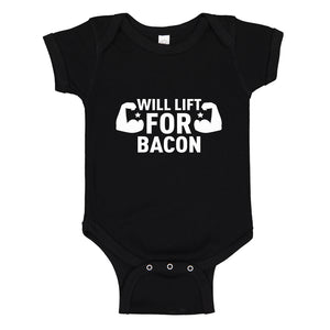 Baby Onesie Will Lift for Bacon 100% Cotton Infant Bodysuit