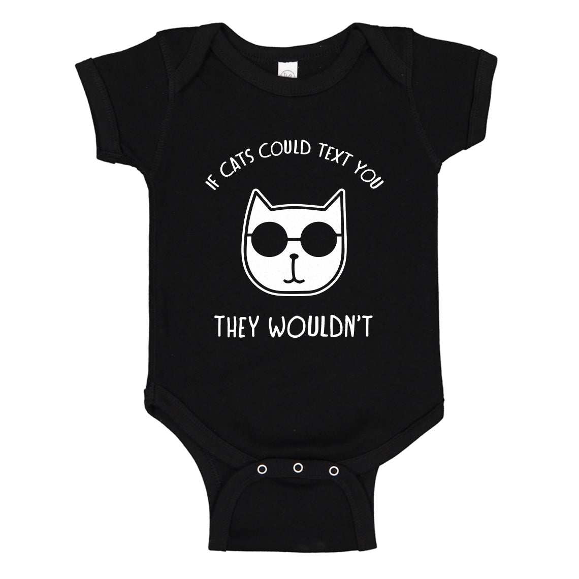 Baby Onesie If Cats Could Text 100% Cotton Infant Bodysuit