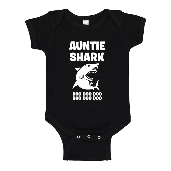 Baby Onesie Auntie Shark 100% Cotton Infant Bodysuit