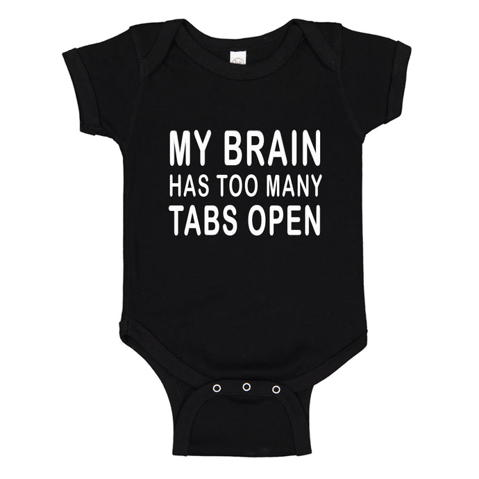Baby Onesie Too Many Tabs Open 100% Cotton Infant Bodysuit