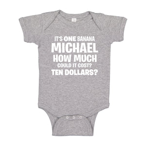 Baby Onesie Its ONE BANANA Michael 100% Cotton Infant Bodysuit