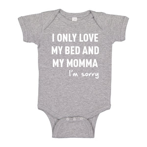 Baby Onesie Only Love My Bed 100% Cotton Infant Bodysuit