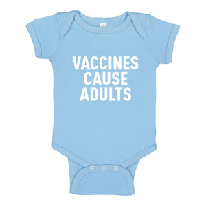 Baby Onesie Vaccines Cause Adults 100% Cotton Infant Bodysuit