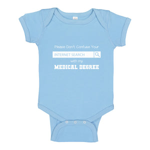 Baby Onesie Don't Confuse Your Search 100% Cotton Infant Bodysuit